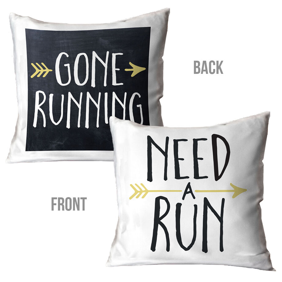 Running Decorative Pillow - Runner's Message
