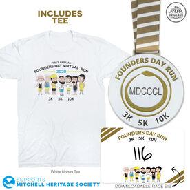 Virtual Race - Founders Day Run - 3K/5K/10K (2020)