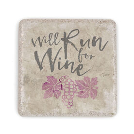 Running Stone Coaster - Will Run For Wine