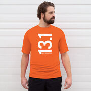 Men's Running Short Sleeve Tech Tee - 13.1 Half Marathon Vertical