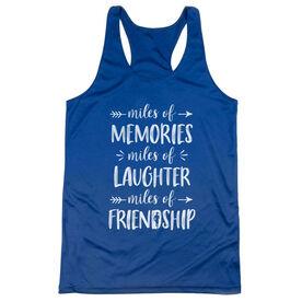 Women's Racerback Performance Tank Top - Miles of Friendship Mantra