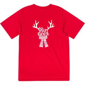 Men's Running Short Sleeve Performance Tee - Run Deer