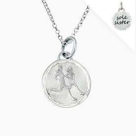 Livia Collection Sterling Silver Sole Sister Token Necklace