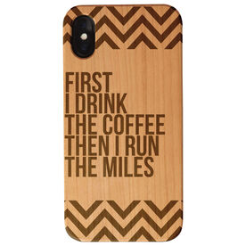 Running Engraved Wood IPhone® Case - Then I Run The Miles