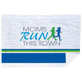 Running Premium Blanket - Moms Run This Town
