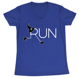 Women's Running Short Sleeve Tech Tee - Let's Run For Halloween