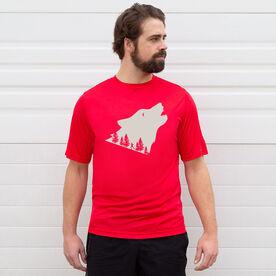 Men's Running Short Sleeve Tech Tee - Run Wild Wolf