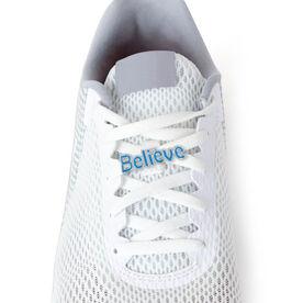 BELIEVE (BLUE) - LaceBLING Shoe Lace Charm