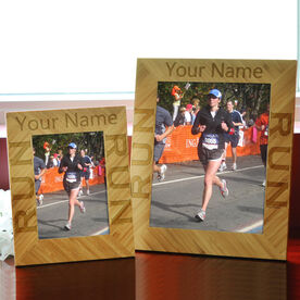 Bamboo Engraved Picture Frame Run Your Name Run
