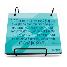 BibFOLIO® Race Bib Album - If You Believe In Yourself