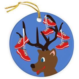 Running Porcelain Ornament Reindeer Running Shoes