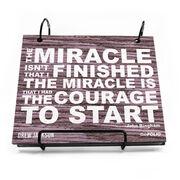 BibFOLIO® Race Bib Album - Miracle Rustic