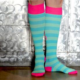 Run for Wine Compression Knee Socks