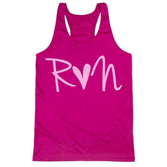 Women's Racerback Performance Tank Top - Run Heart