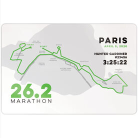 "Running 18"" X 12"" Wall Art - Personalized Paris Map"
