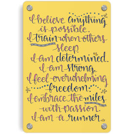 Running Metal Wall Art Panel - I Am A Runner