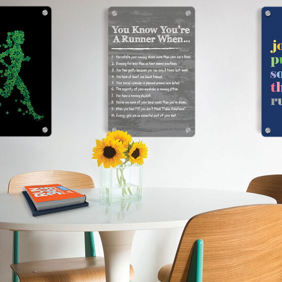 "Running 18"" X 12"" Wall Art - You Know You're A Runner When"