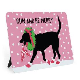 Running Desk Art - Run And Be Merry