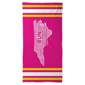 Running Beach Towel North Carolina State Runner