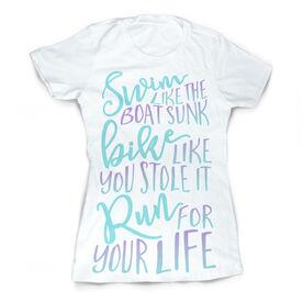Vintage Triathlon T-Shirt - Tri Quote