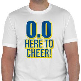 Men's Running Customized Short Sleeve Tech Tee 0.0 Here To Cheer