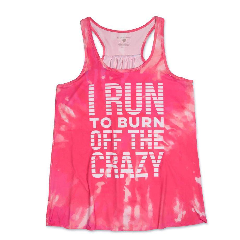 RunTechnology® Performance Tank Top - I Run To Burn Off The Crazy Tie-Dye