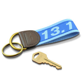 13.1 Half Marathon Runners Key Fob (Royal Blue/Light Blue)