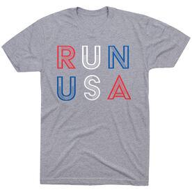Running Short Sleeve T-Shirt - Run USA