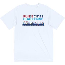 Running Short Sleeve Performance Tee - Run For 5 Cities Challenge