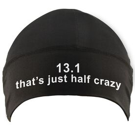 Run Technology Beanie Performance Hat - 13.1 That's Just Half Crazy