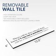 "Running 12.5"" X 4"" Removable Wall Tile - I Can Run A Marathon"