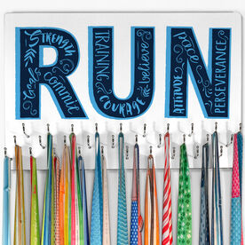 Running Large Hooked on Medals Hanger - Inspirational Runner