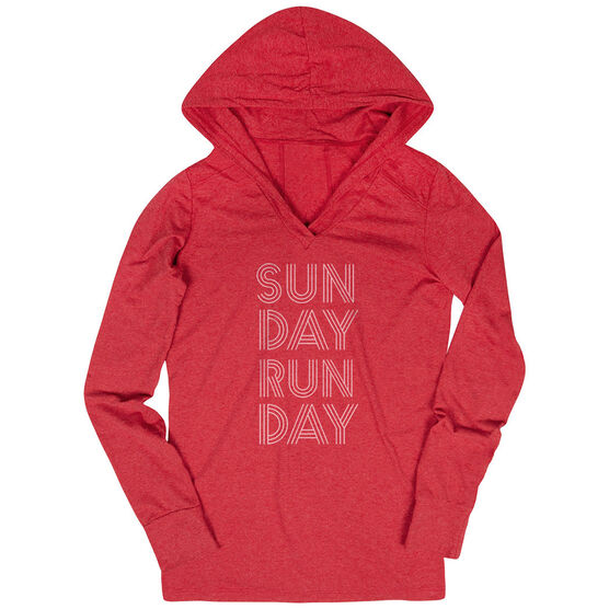 Women's Running Lightweight Performance Hoodie - Sunday Runday (Stacked)