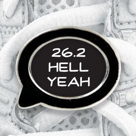 Talk Bubble Shoe Lace Charm 26.2 Hell Yeah