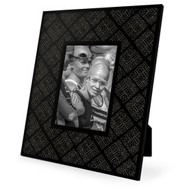 Triathlon Engraved Picture Frame - Swim Bike Run Pattern