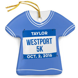 Running Porcelain Ornament Personalized My First 5K Shirt