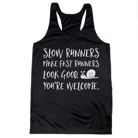 Women's Racerback Performance Tank Top - Slow Runners