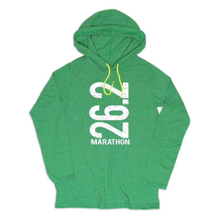 Men's Running Lightweight Hoodie - 26.2 Marathon Vertical