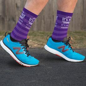 Running Printed Mid-Calf Socks - It's Not Sweat