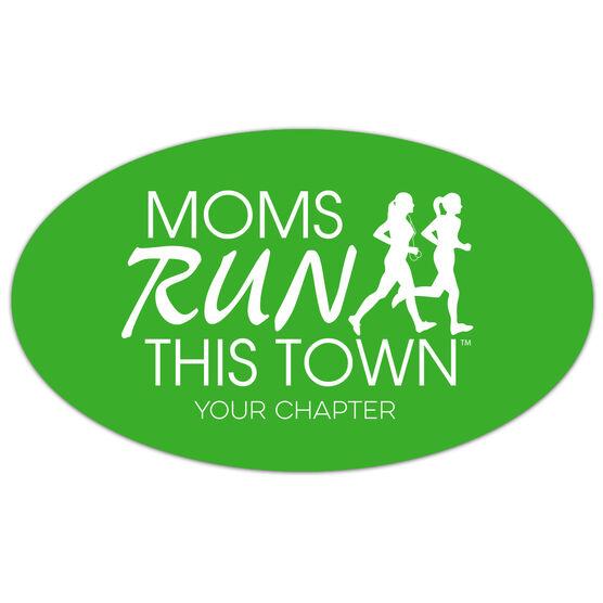 Running Oval Car Magnet - Moms Run This Town Logo (Custom Chapter)