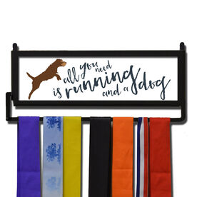 RunnersWALL All You Need Is Running And A Dog Medal Display