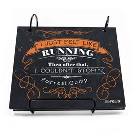 BibFOLIO® Race Bib Album - I Just Felt Like Running Chalkboard