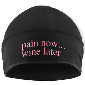 Run Technology Beanie Performance Hat - Pain Now...Wine Later