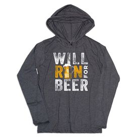 Men's Running Lightweight Hoodie - Will Run For Beer