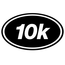 10k Oval Running Vinyl Decal