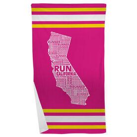 Running Beach Towel California State Runner