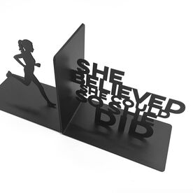 Running Bookends She Believed She Could