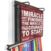 BibFOLIO+™ Race Bib and Medal Display Miracle (Rustic)
