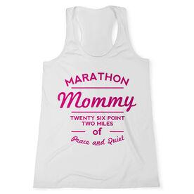 Women's Customized Performance Tank Top Marathon Mommy (White Tank Top)