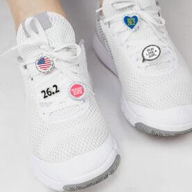 LaceBLING Shoelace Charm - 26.2 Marathon (Black)